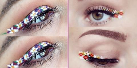 Pourquoi ne pas essayer l'eye-liner en fleurs...