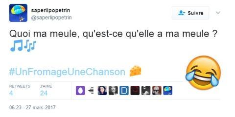 #UnFromageUneChanson : Les twittos fêtent la...