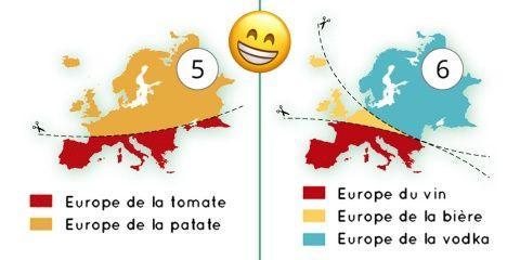 20 manières de séparer la carte de l'Europe d...