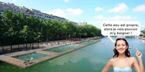 Cet été vous pourrez vous baigner dans le bas...