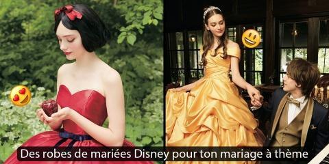 Disney sort 14 robes de mariées pour des mari...