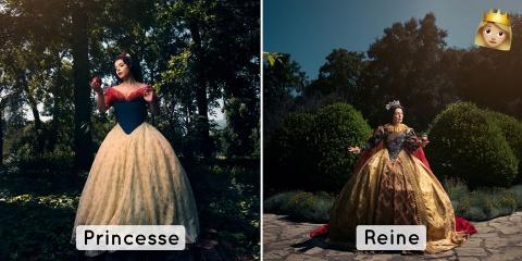 Un artiste imagine les tenues des princesses...
