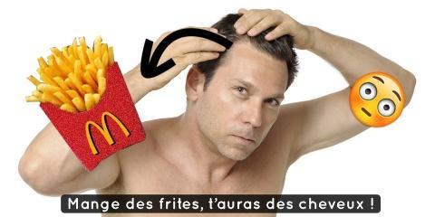 Avis aux chauves : les frites McDo font pouss...
