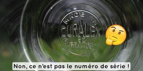 A quoi servent les numéros sous les verres de...