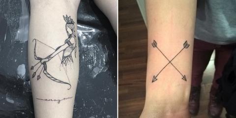 Que signifie le fameux tatouage flèche, et d'...