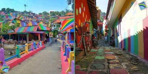 Kampung Pelangi : le bidonville devenu un arc...