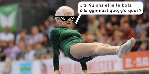 Participer à un concours de gymnastique à 92...