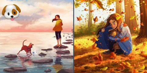 Cette artiste californienne illustre sa vie a...