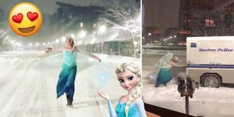 Cet homme déguisé en Elsa libère un camion de...