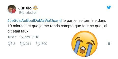 #JeSuisAuBoutDeMaVieQuand : quand les twittos...