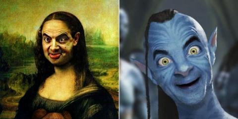 Des malins photoshoppent Mr. Bean partout par...
