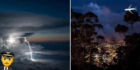 Ce pilote d'avion prend des photos du ciel de...