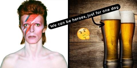 """""""Heroes"""" de David Bowie est en fait une chans..."""