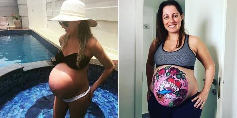 30 photos de grossesse qui prouvent que la be...