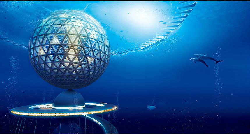 ville sous l'eau
