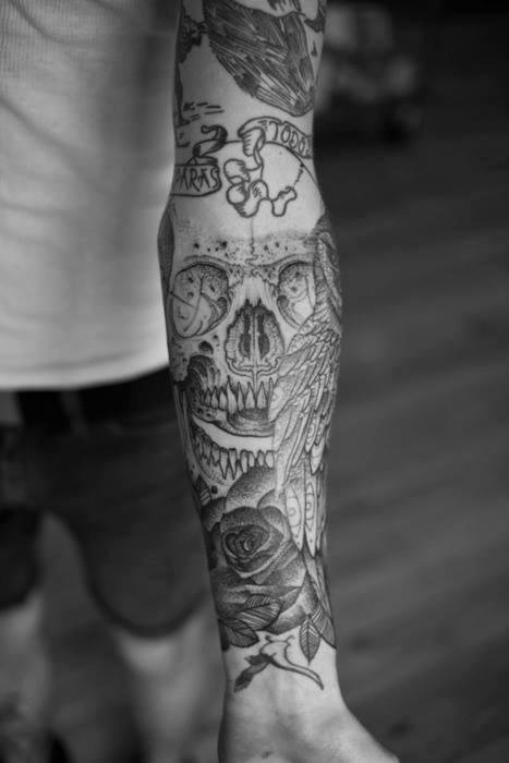 Tatouages Noir Et Blanc