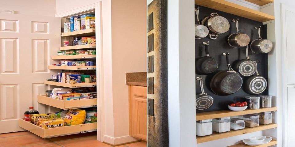 14 id es de rangement pour gagner de l 39 espace dans une petite cuisine. Black Bedroom Furniture Sets. Home Design Ideas