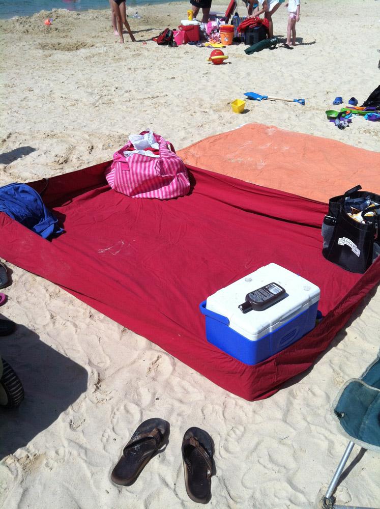 sac de plage pour mettre affaires enfants