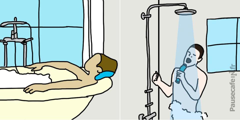 Ce que vos habitudes sous la douche r v lent sur votre personnalit - Epilateur electrique sous la douche ...