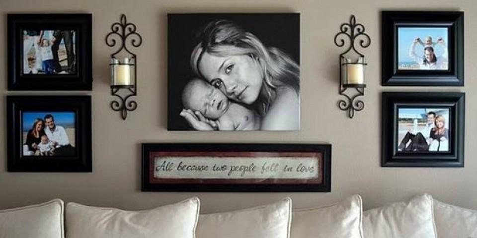14 id es fabuleuses pour mettre en valeur ses photos de famille. Black Bedroom Furniture Sets. Home Design Ideas