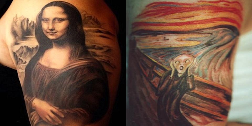 20 Magnifiques Tatouages Inspires Des Plus Grandes Oeuvres D Art