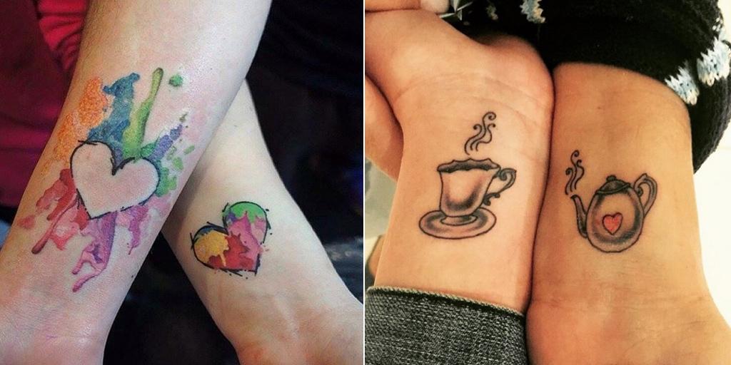 10 id es de tatouages m re fille pour partager une belle. Black Bedroom Furniture Sets. Home Design Ideas