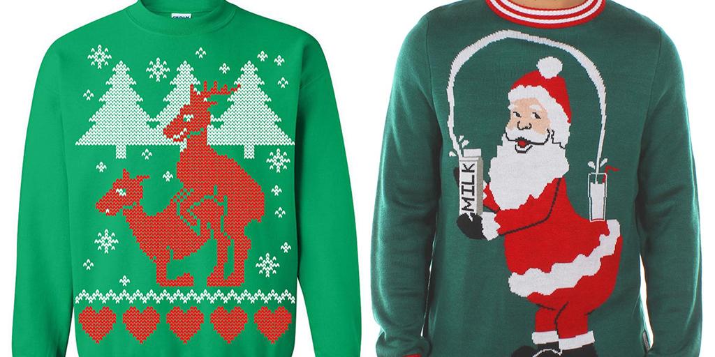 pull de noel drole Les 14 pulls de Noël les plus décalés du web, quand l'humour s  pull de noel drole