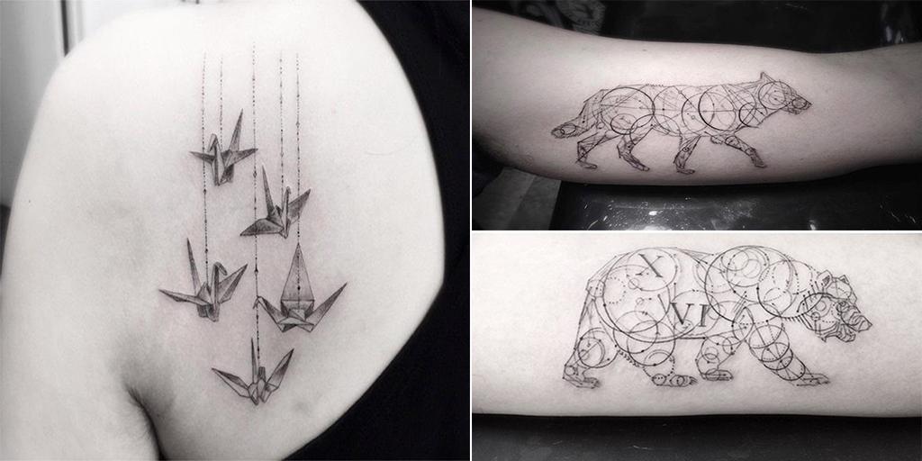 15 Tatouages Sauvages Et Geometriques Signes Par Le Talentueux Dr Woo