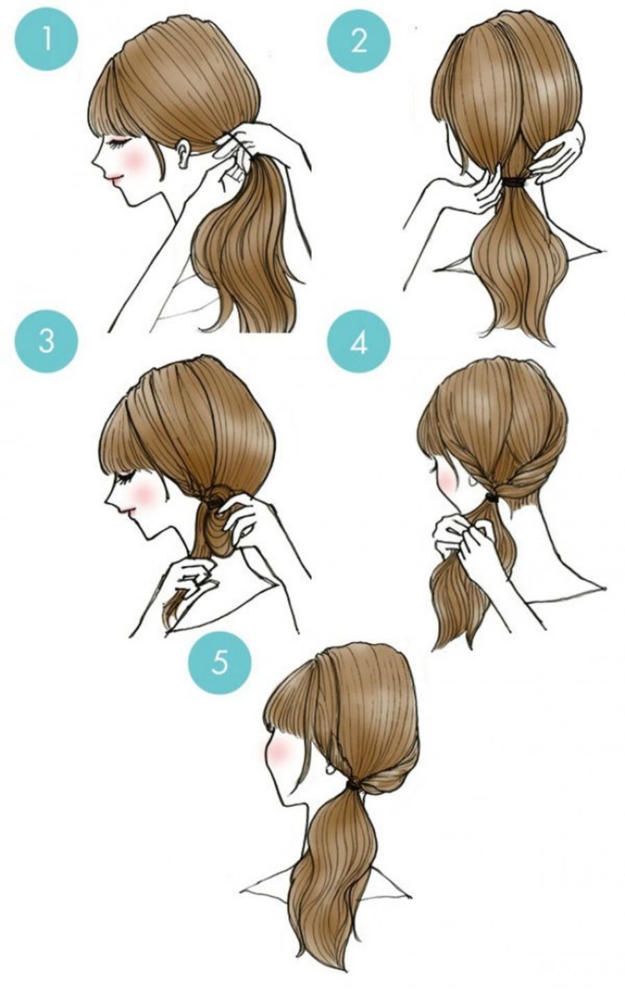 Coiffure dos queue de cheval coiffure