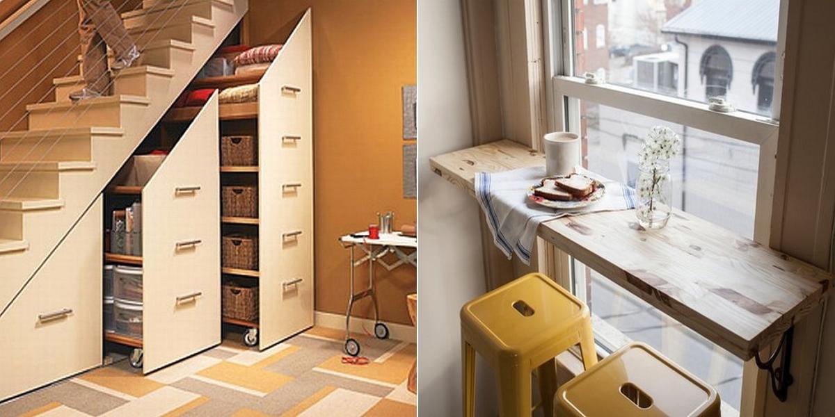 15 astuces g niales pour optimiser les petits espaces mieux chez soi. Black Bedroom Furniture Sets. Home Design Ideas