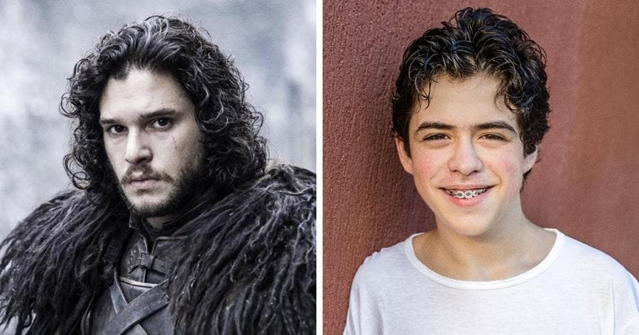 Jon Snow Game of Thrones personnage acteur série âge 14