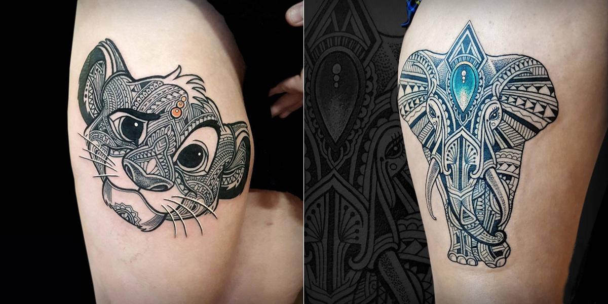 Decouvrez Les Magnifiques Tatouages Geometriques De Coen Mitchell