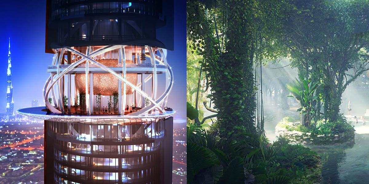 Dubai construit le premier hôtel avec sa propre forêt tropicale