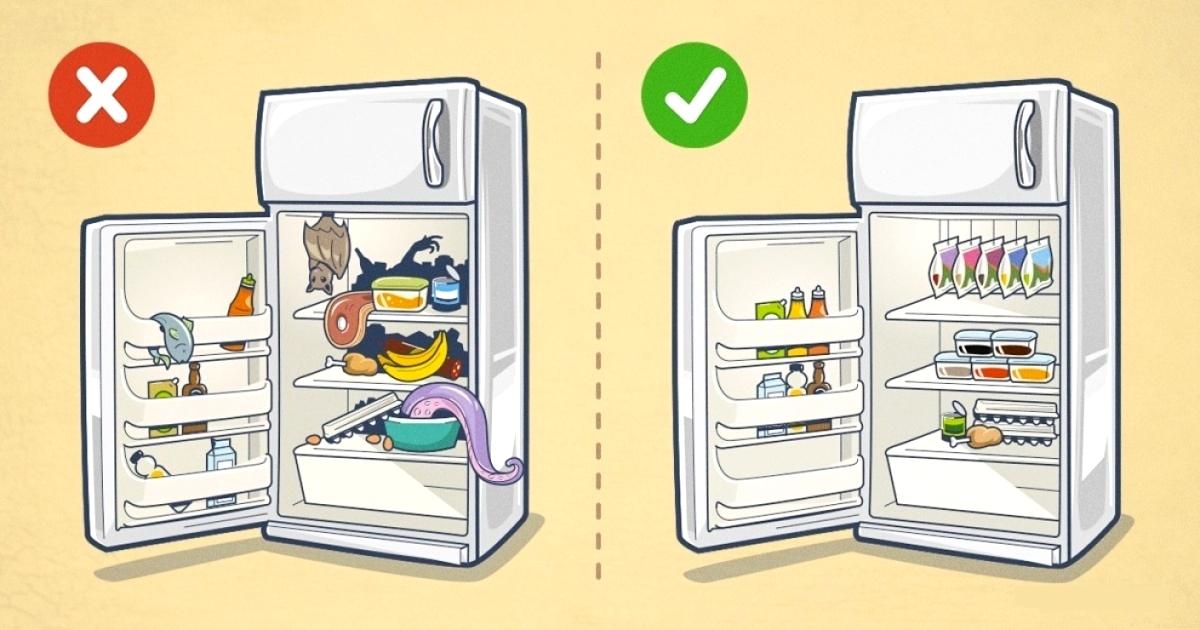 10 fa ons ing nieuses de bien ranger son frigo. Black Bedroom Furniture Sets. Home Design Ideas