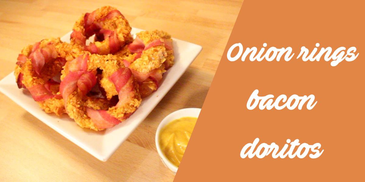 vid o la recette des onion rings au bacon et aux doritos. Black Bedroom Furniture Sets. Home Design Ideas