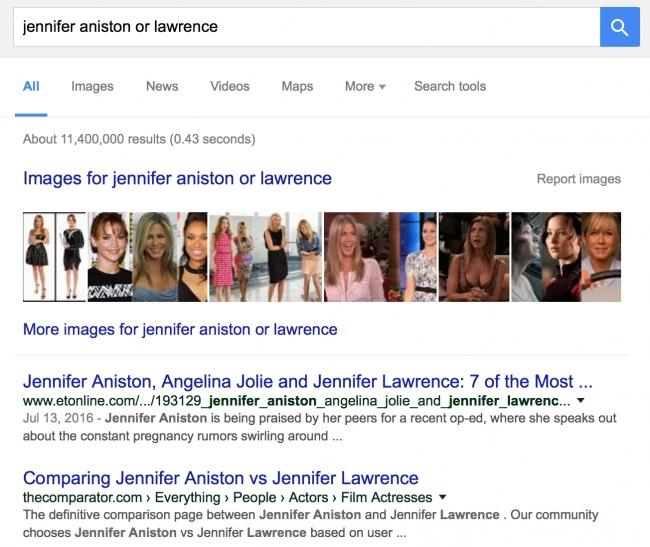 recherche google avec le