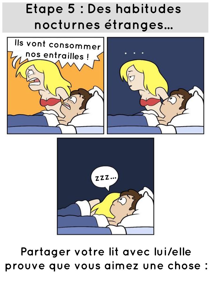 Les habitudes nocturnes étranges quand tu dors avec quelqu'un