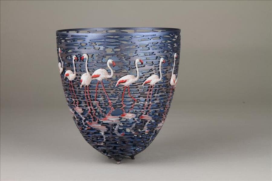 Gordon Pembridge artiste bois flamants roses