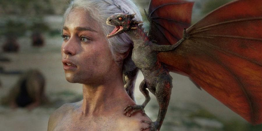 daenerys, game of thrones, dragon