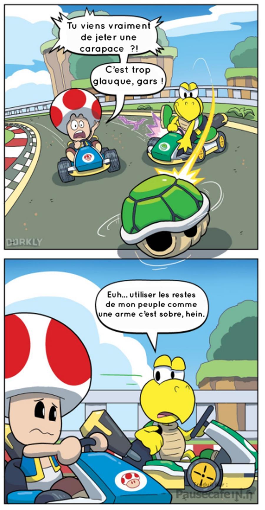 Nintendo licence Mario Kart vérités atroces révélées Koopa carapace verte Toad