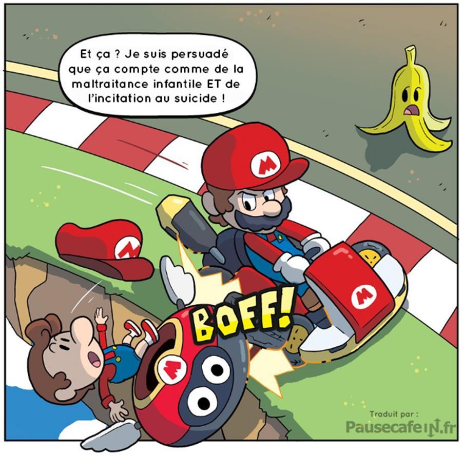 Nintendo licence Mario Kart vérités atroces révélées Mario Bébé Mario sortie de piste