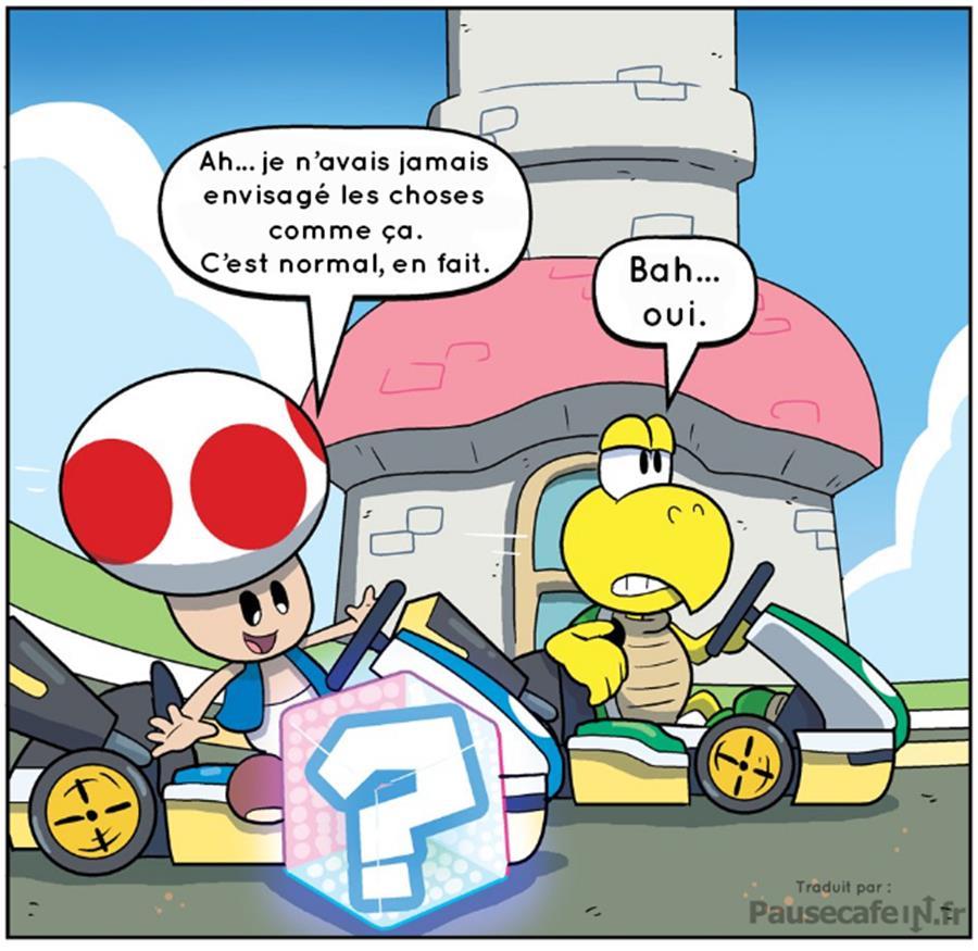 Nintendo licence Mario Kart vérités atroces révélées Toad Koopa compréhension