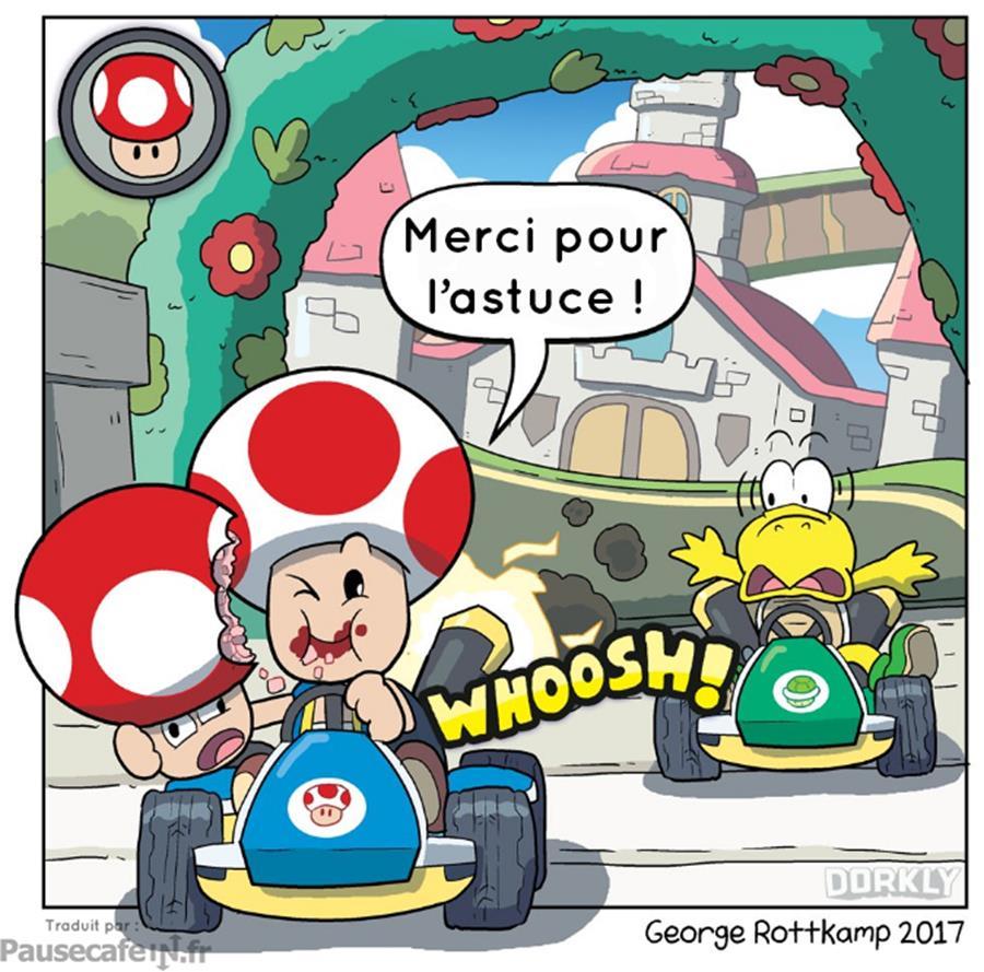 Nintendo licence Mario Kart vérités atroces révélées Toad champignon Koopa