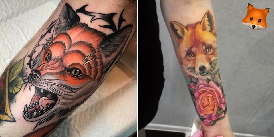 Quelles sont l 39 histoire et la signification du tatouage renard - Queue de renard fleur ...