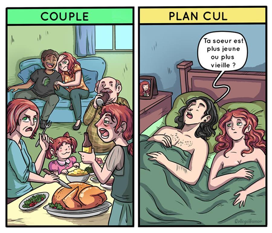 famille, couple, plan cul