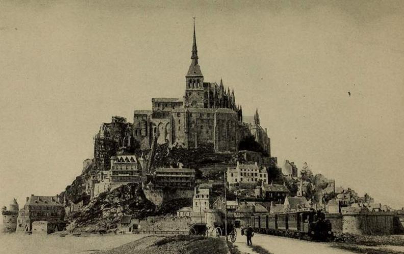 1908, mont, saint, michel