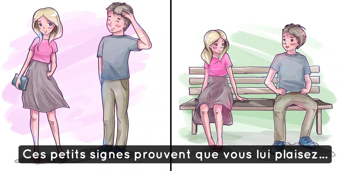 Signe qu'un homme flirt