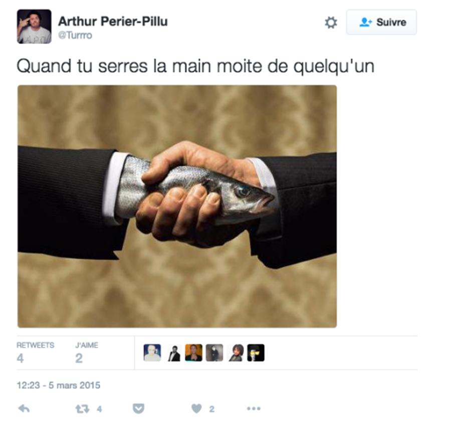 main, moite