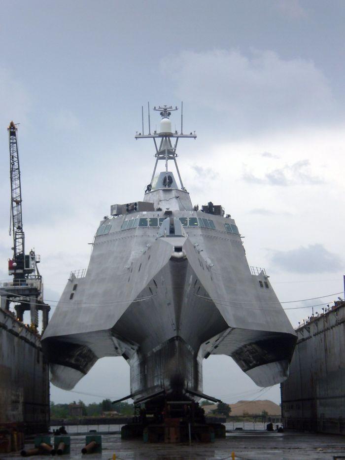 bateau, hors, eau, militaire
