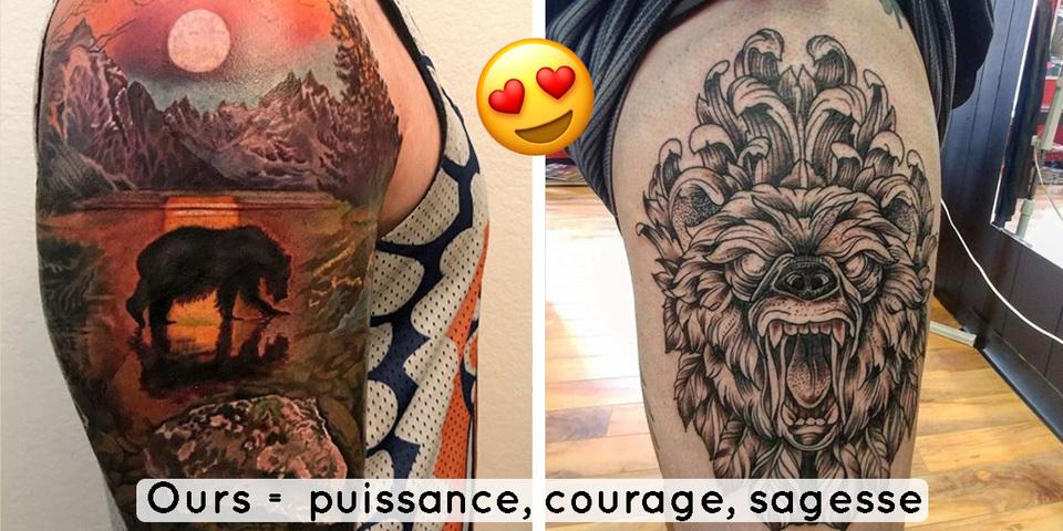 12 Tatouages D Ours Symbole De Puissance Et De Sagesse